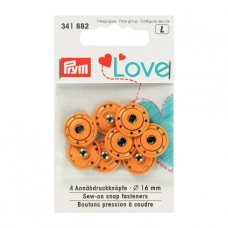 Пришивные кнопки Prym Love, оранжевый, 16 мм