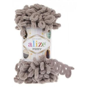 Пряжа Alize Puffy песочно-бежевый 268
