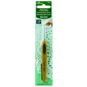 Крючок для вязания Soft Touch 1.5мм Clover