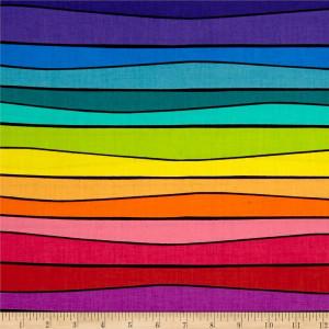 Ткань Sweet Tweets Stripe Multi Black Andover