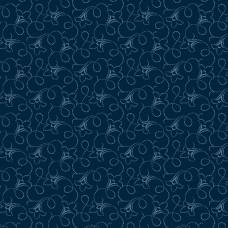 Ткань Flared Flower Vine Blue Indigo Andover