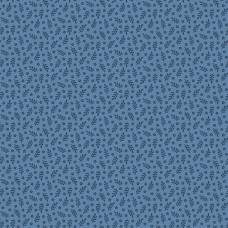 Ткань Allover Sprigs and Flowers Blue Indigo Andover
