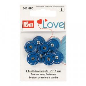 Пришивные кнопки Prym Love, синий, 16 мм