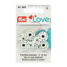 Пришивные кнопки Prym Love, белый, 16 мм