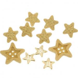 Набор пуговиц Star Combo Gold