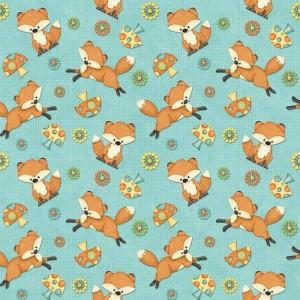Ткань Hoot Hoot Hooray! Foxes Henry Glass