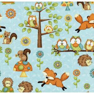 Ткань Hoot Hoot Hooray! Owls Henry Glass
