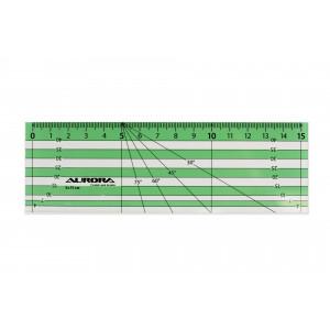 Линейка для пэчворка 5х15 см, AURORA