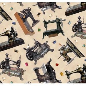 Ткань Stitch In Time Sewing Machines Elizabeth Studio