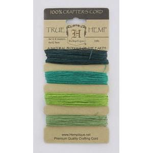 Шнуры Конопляные Hemp Cord Shades Of Emerald #10