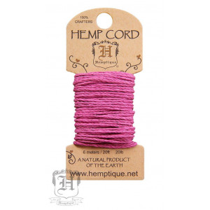 Шнур Конопляный Hemp Cord Bright Pink