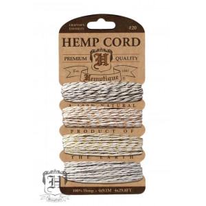 Шнуры Конопляные Hemp Cord Metsllic Vintage #20