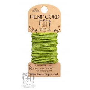 Шнур Конопляный Hemp Cord Lime Green