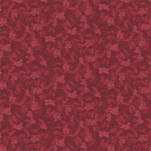 Ткань HOLLY & BERRIES TONAL RED Winter Wonderland Benartex