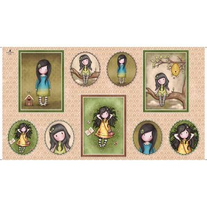 GIRL PICTURE PATCH PANEL Quilting Treasures