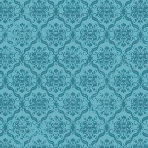Ткань DAMASK BLUE Quilting Treasures