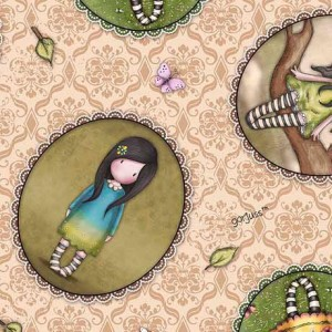 Ткань GIRL PATCHES TOSSED BEIGE Quilting Treasures