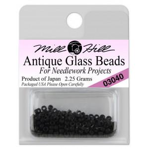 Бисер Antique Glass Beads Flat Black Mill Hill