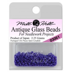 Бисер Antique Glass Beads Matte Periwinkle Mill Hill