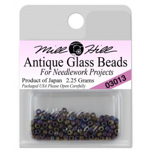 Бисер Antique Glass Beads Stormy Blue Heather Mill Hill