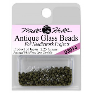 Бисер Antique Glass Beads Matte Olive Mill Hill