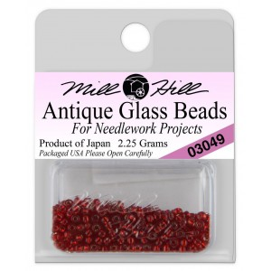 Бисер Antique Glass Beads Rich Red Mill Hill