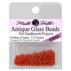 Бисер Antique Glass Beads Oriental Red Mill Hill