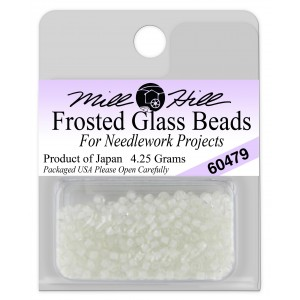 Бисер Frosted Glass Beads White Mill Hill