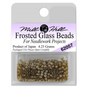 Бисер Frosted Glass Beads Khaki Mill Hill