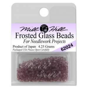Бисер Frosted Glass Beads Heather Mauve Mill Hill