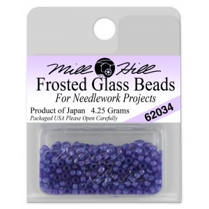 Бисер Frosted Glass Beads Blue Violet Mill Hill