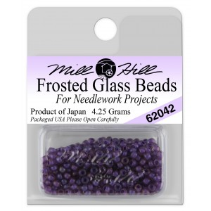 Бисер Frosted Glass Beads Royal Purple Mill Hill