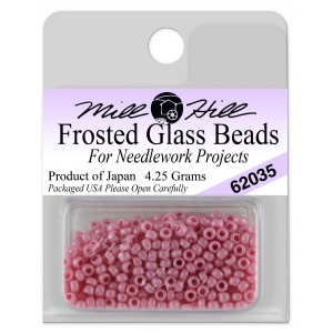 Бисер Frosted Glass Beads Old Rose Mill Hill