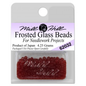 Бисер Frosted Glass Beads Cranberry Mill Hill