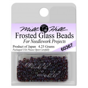 Бисер Frosted Glass Beads Garnet Mill Hill