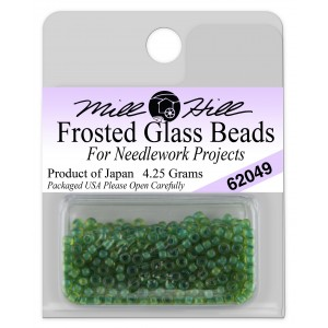 Бисер Frosted Glass Beads Spring Green Mill Hill