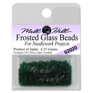 Бисер Frosted Glass Beads Creme De Mint Mill Hill