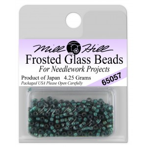 Бисер Frosted Glass Beads Bottle Green Mill Hill