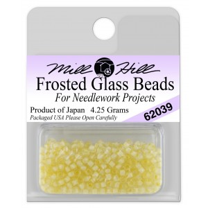 Бисер Frosted Glass Beads Ivory Creme Mill Hill