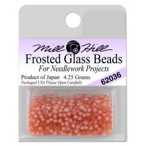 Бисер Frosted Glass Beads Pink Coral Mill Hill
