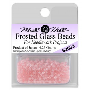 Бисер Frosted Glass Beads Dusty Pink Mill Hill