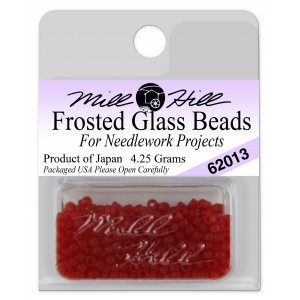 Бисер Frosted Glass Beads Red Red Mill Hill