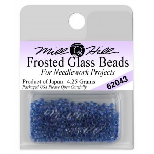 Бисер Frosted Glass Beads Denim Mill Hill