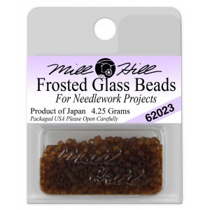 Бисер Frosted Glass Beads Root Beer Mill Hill