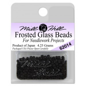 Бисер Frosted Glass Beads Black Mill Hill