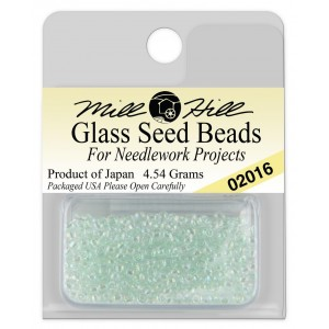 Бисер Glass Seed Beads Crystal Mint Mill Hill