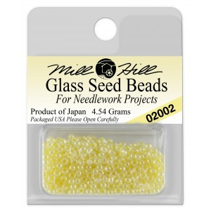 Бисер Glass Seed Beads Yellow Creme Mill Hill