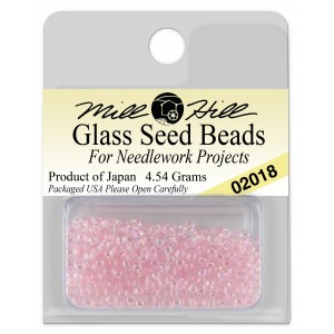 Бисер Glass Seed Beads Crystal Pink Mill Hill
