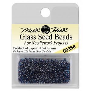 Бисер Glass Seed Beads Cobalt Blue Mill Hill