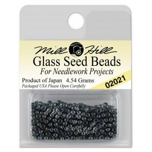 Бисер Glass Seed Beads Gunmetal Mill Hill
